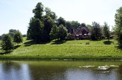 Moat in Leeds castle garden, England Stock Photos
