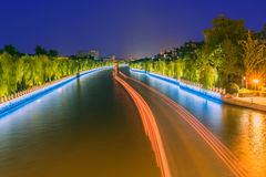 The moat at night Royalty Free Stock Photos