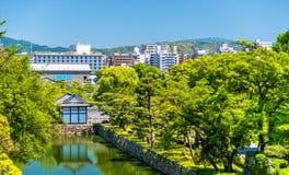 Moat of Nijo Castle in Kyoto Stock Photo