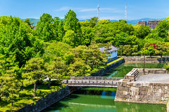 Moat of Nijo Castle in Kyoto Royalty Free Stock Photography