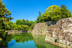 Moat of Nijo Castle in Kyoto Royalty Free Stock Images