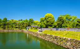 Moat of Nijo Castle in Kyoto Stock Images