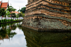 The moat of the old city of chiang mai Stock Image