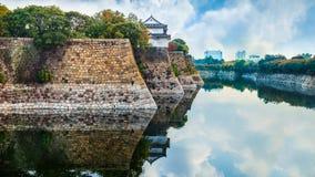 Moat of Osaka Castle in Osaka, Japan Stock Image