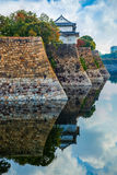 Moat of Osaka Castle in Osaka Royalty Free Stock Images