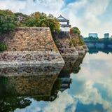 Moat of Osaka Castle in Osaka Royalty Free Stock Images