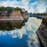 Moat of Osaka Castle in Osaka Royalty Free Stock Photos