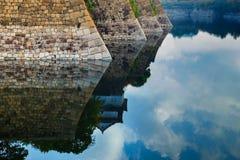 Moat of Osaka Castle in Osaka Royalty Free Stock Photography