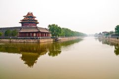 Moat outside foridden city in Beijing Royalty Free Stock Photography
