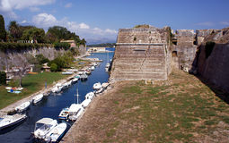 Moat and Palaio Frourio Royalty Free Stock Image