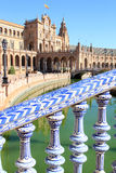 Moat at Plaza de Espana, Seville, Spain Royalty Free Stock Images
