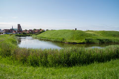 The moat and ramparts of Riberhus, Ribe, Denmark Stock Photography