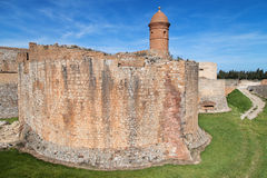 Moat and ramparts of Salses-le-Chateau Royalty Free Stock Photos