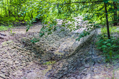 The moat of stone in the park. Landscape Stock Images