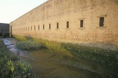 Moat surrounding Fort Jackson in Savannah, GA Stock Image