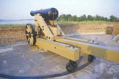 Moat surrounding Fort Jackson in  Savannah, GA Stock Photography