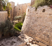 Moat tower of David Stock Images