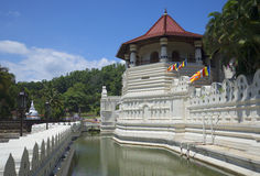 The moat and the tower octagon. The Royal Palace in Kandy Royalty Free Stock Photos