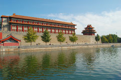 Moat & Turret, Forbidden City Stock Photos