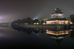 Moat & turret, Forbidden city Stock Images