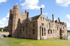 Moated архитектура Tudor в Норфолке, Англии Стоковые Фотографии RF