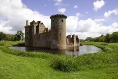 moated caerlaverock的城堡 免版税图库摄影