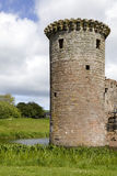 Moated Caerlaverock Castle, Scotland, Royalty Free Stock Photography