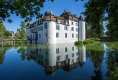 Moated castle, Basel, Switzerland Stock Photos