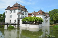 Moated Castle Bottmingen - Wasserschloss Bottmingen Royalty Free Stock Photos