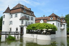 Moated Castle Bottmingen - Wasserschloss Bottmingen Royalty Free Stock Photo