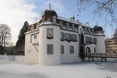 Moated Castle Bottmingen - Wasserschloss Bottmingen. The Moated Castle Bottmingen (locally known as Wasserschloss Bottmingen) is located in the village of the Stock Photos