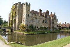 Moated castle with a bridge. Hever castle, England Stock Image