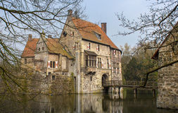 Moated Castle in Germany Stock Photo