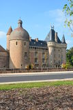 Moated Castle La Clayette Stock Image