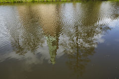 Moated castle Raesfeld Germany - Reflection Stock Image