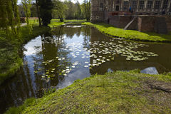 Moated castle Raesfeld Germany - Reflection Stock Photography