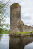 Moated castle with tower, Wasserburg Baldenau, Germany Royalty Free Stock Photography