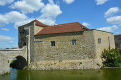 Moated Manor House Royalty Free Stock Photos