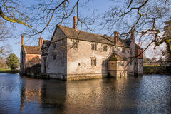 Moated Manor House Stock Image