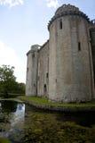 Moated Schloss, Nunney, Somerset Lizenzfreies Stockfoto