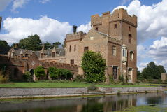 Moated Tudor architecture Royalty Free Stock Images