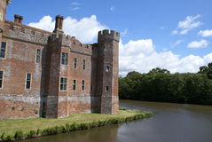 Moated Tudor castle in England Royalty Free Stock Photo