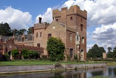 Moated Tudor Medieval architecture in Norfolk, England Royalty Free Stock Images