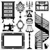 Mobília antiga ilustração do vetor