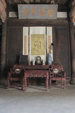 Mobília chinesa antiga na construção histórica Fotos de Stock