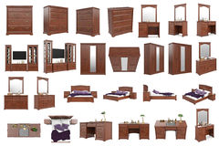 Mobília clássica ajustada ilustração do vetor