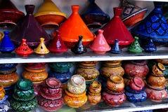 Mobília colorida em Marrocos Fotografia de Stock