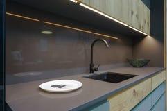 Mobília da cozinha, interior da cozinha Fotografia de Stock