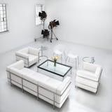 Mobília da sala de visitas no estúdio da fotografia Foto de Stock Royalty Free