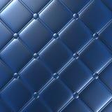 Mobília de couro azul luxuosa, papel de parede, ilustração Imagens de Stock Royalty Free